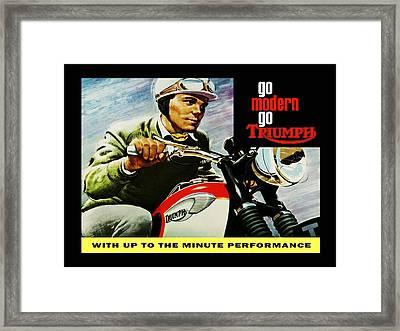 Go Modern Go Triumph Framed Print by Mark Rogan
