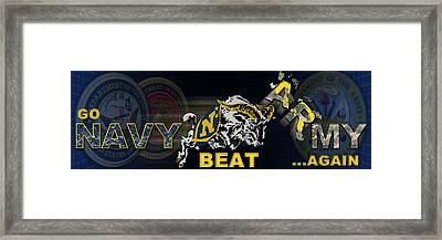 Go Navy Beat Army Framed Print