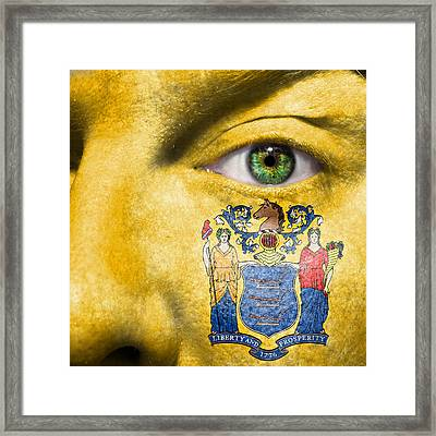 Go New Jersey Framed Print
