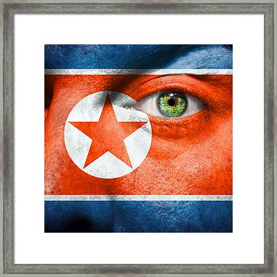 Go North Korea Framed Print