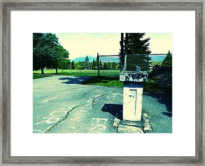 Framed Print featuring the photograph School Drinking Fountain by Laurie Tsemak