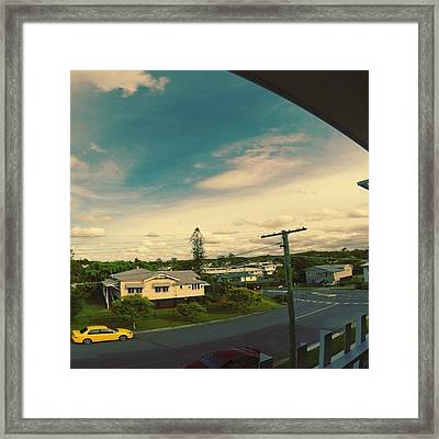 Go Pro Hero 3+ Afternoon Time Lapse Framed Print
