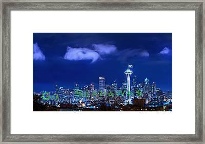 Go Seahawks Framed Print