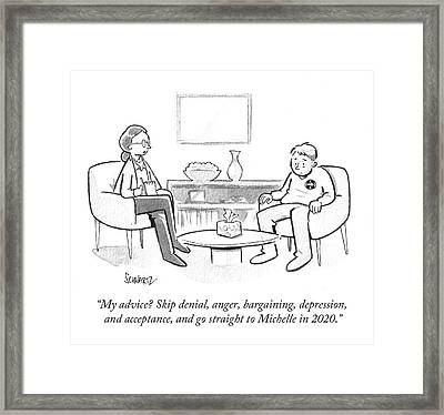 Go Straight To Michelle In 2020 Framed Print