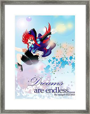 Go Up To Your Dream Framed Print by Racquel Delos Santos