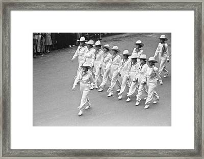 Go Western Parade In Billings Framed Print by Arthur