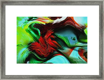 Go With The Flow Abstract Framed Print by Liane Wright