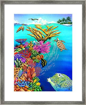 Go With The Flow Framed Print by Carolyn Steele