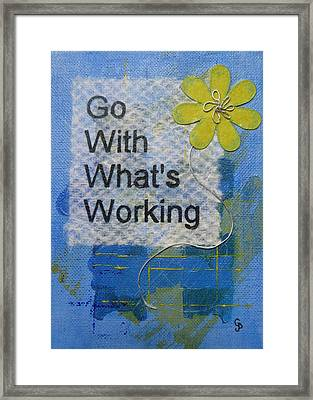 Go With What's Working - 2 Framed Print by Gillian Pearce