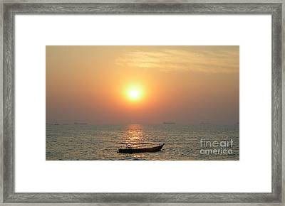 Goa Sunset Framed Print