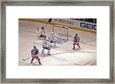 Goal Framed Print by Karol Livote