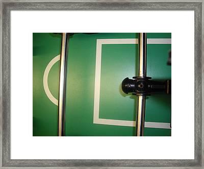 Goal Keeper Framed Print by Robert Cunningham