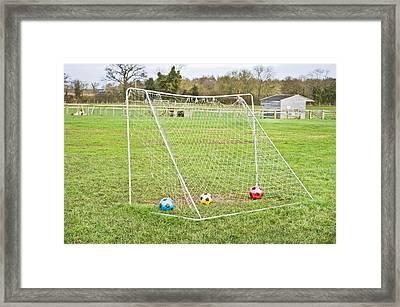 Goal Framed Print by Tom Gowanlock
