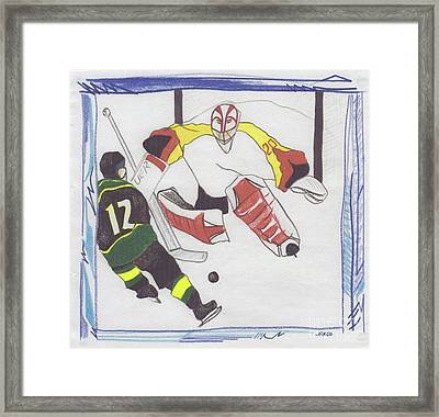Framed Print featuring the drawing Shut Out By Jrr by First Star Art