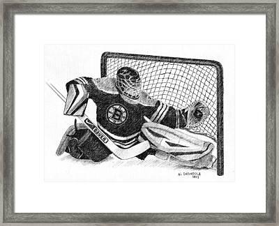 Goalie Framed Print by Al Intindola