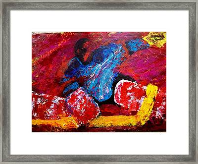 Goalie Framed Print by Bill Pilgrim