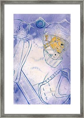 Goalie Missed Framed Print by Rosemary Hayes