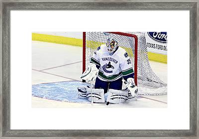 Goalie Save Framed Print