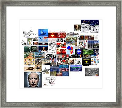Goal Post Putin Framed Print