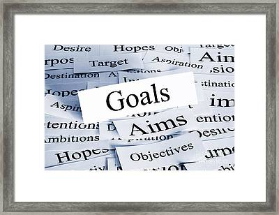 Goals Concept Framed Print by Colin and Linda McKie