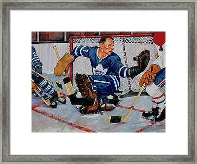 Goaltender Framed Print by Derrick Higgins