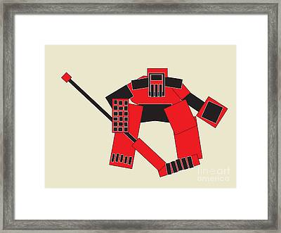 Goaltender Framed Print