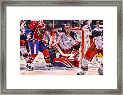 Goaltending Framed Print