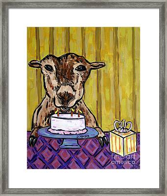 Goat At The Birthday Party Framed Print by Jay  Schmetz