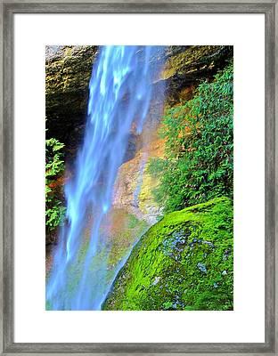 Goat Creek Falls Framed Print