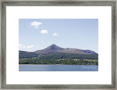 Goat Fell Isle Of Arran Scotland Framed Print