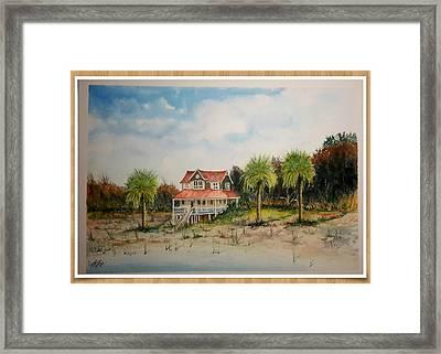 Goat Island South Carolina Sold Framed Print