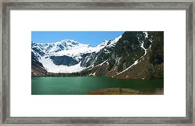 Goat Lake Panorama Framed Print