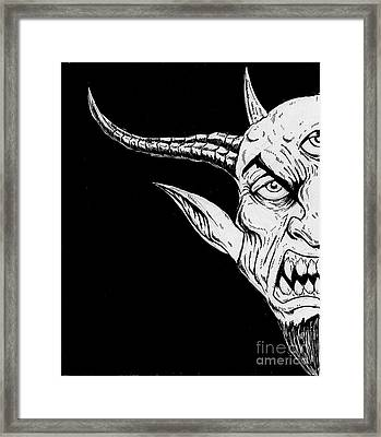 Goat Lord Awakened Framed Print by Alaric Barca