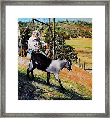 Goat Man Framed Print