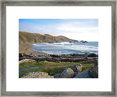 Goat Rock State Beach On The Pacific Ocean Near Outlet Of Russian River-ca  Framed Print