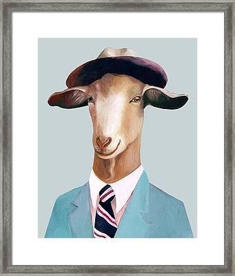Goat Framed Print by Animal Crew
