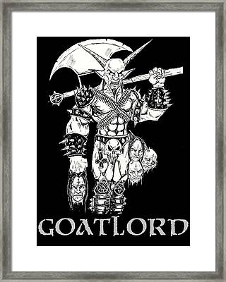 Goatlord Censorship Framed Print by Alaric Barca