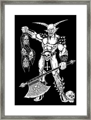 Goatlord Hero Framed Print by Alaric Barca