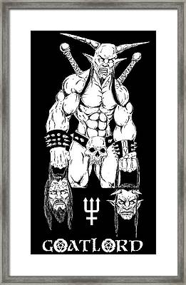 Goatlord Justice Framed Print by Alaric Barca