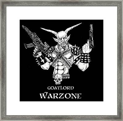Goatlord Warzone Framed Print by Alaric Barca