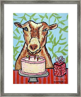 Goat's Birthday Framed Print by Jay  Schmetz