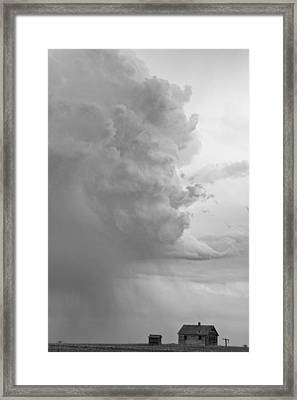 Gobbled Up By A Storm Bw Framed Print by James BO  Insogna