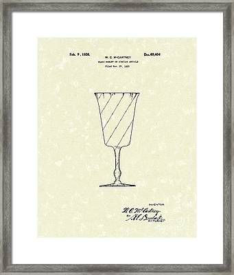 Goblet 1926 Patent Art Framed Print by Prior Art Design
