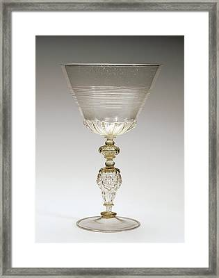 Goblet Unknown Façon De Venise, Netherlands Framed Print by Litz Collection