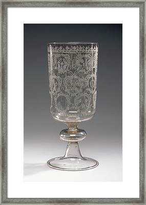 Goblet With The Arms Of Bregenz And Of Local Patricians Framed Print