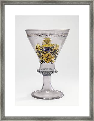 Goblet With The Arms Of Liechtenberg Unknown Façon De Framed Print by Litz Collection