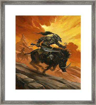 Goblin Charge Framed Print by Alan Lathwell