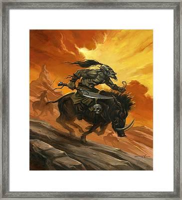 Goblin Charge Framed Print