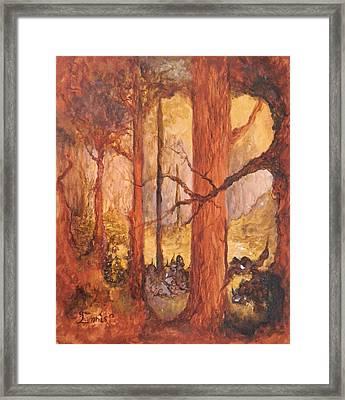 Goblins' Glen Framed Print