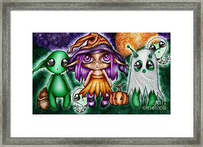 Goblins Witches And Scares Oh My Framed Print by Coriander  Shea